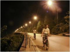 张家界武陵源区道路照明工程试行夜景图