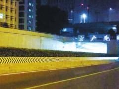 """郑州京广北路隧道""""美容""""啦!增加反光标志照明设备"""