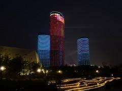 山东高速广场夜景亮化——户外照明工程