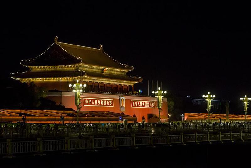 北京景观照明开启重大节日模式 华美夜色迎盛会