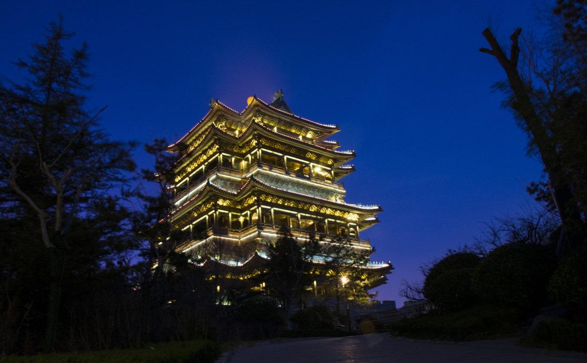 威海环翠楼夜景