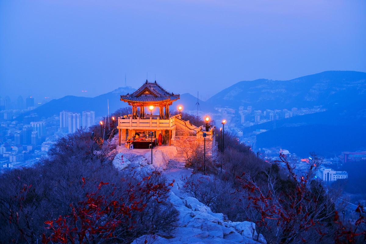 千佛山观景台夜景