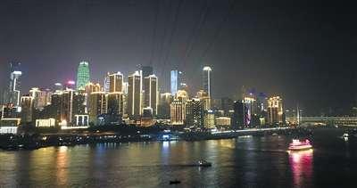 重庆解放碑首栋全彩灯饰楼宇年底亮相