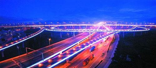 苏州东环高架道路照明换新灯 道路更稳定舒适